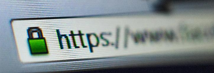 HTTPS protocol displayed in the browser